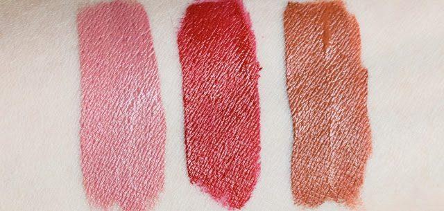 Ofra Cosmetics Long Lasting Liquid Lipstick x 3 - Swatches